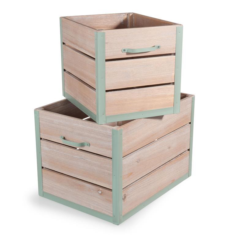 Caisse En Bois Maison Du Monde : de dressing et placards > 2 caisses en bois L 30 et L 40 cm GARDEN