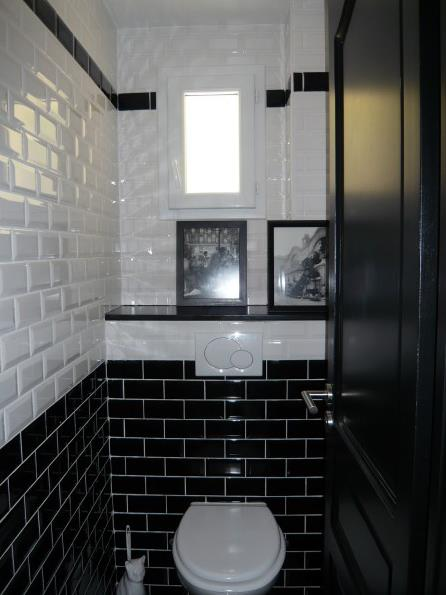 déco wc carrelage metro