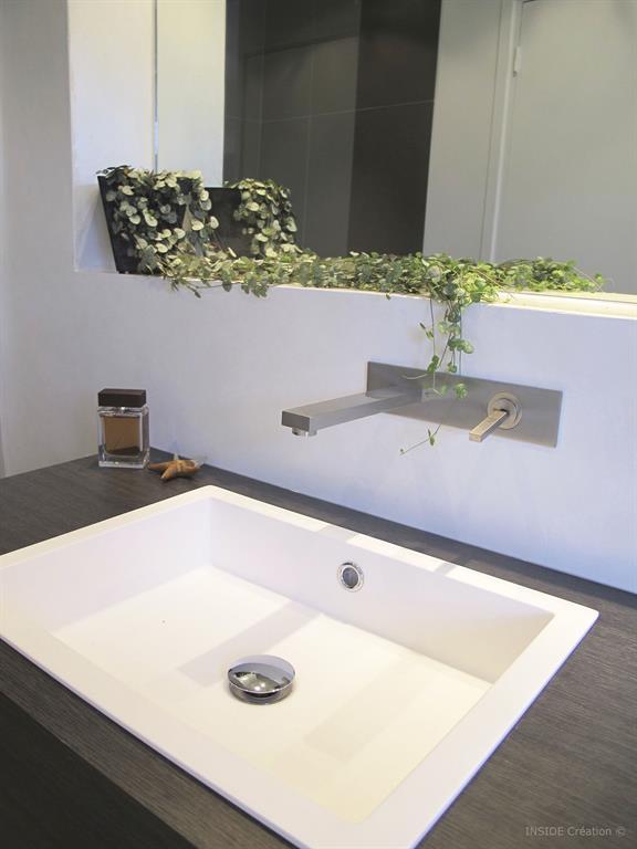 Salle de bain b ton cir - Lavabo encastrable salle de bain ...