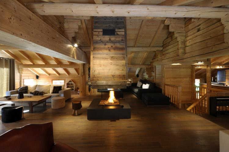 cheminee centrale a bois