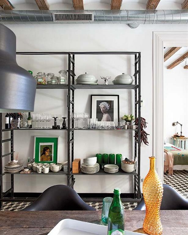 tagre cuisine rtro visite priv e d un appartement r nov barcelone pour les - Etagere Cuisine Moderne