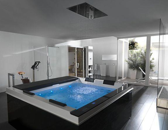 modele de salle de bain avec jacuzzi - Salle De Bain De Luxe Avec Jacuzzi
