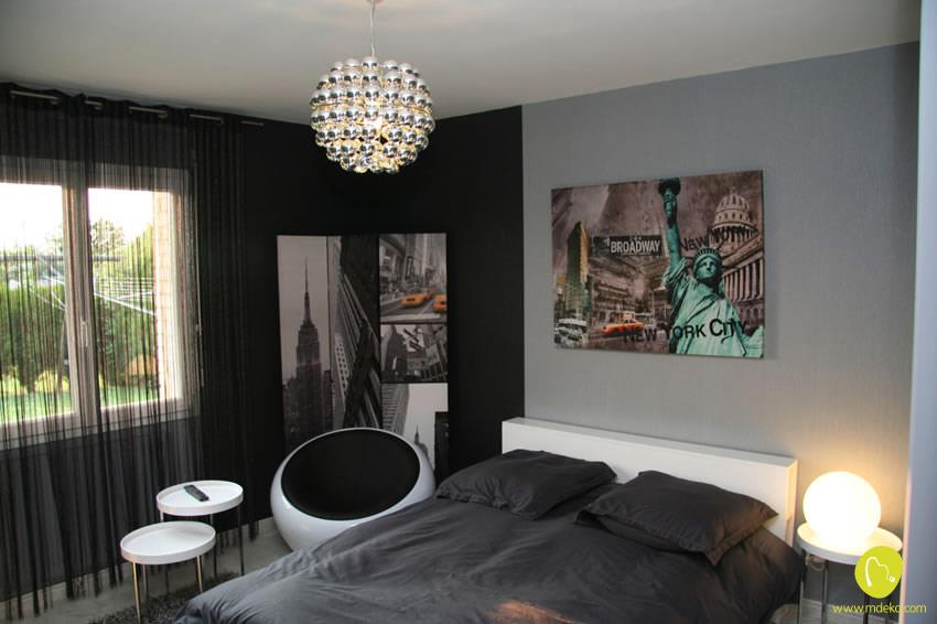 Chambre d 39 adolescent ambiance new york mdeko photo n 63 for Chambre fille new york