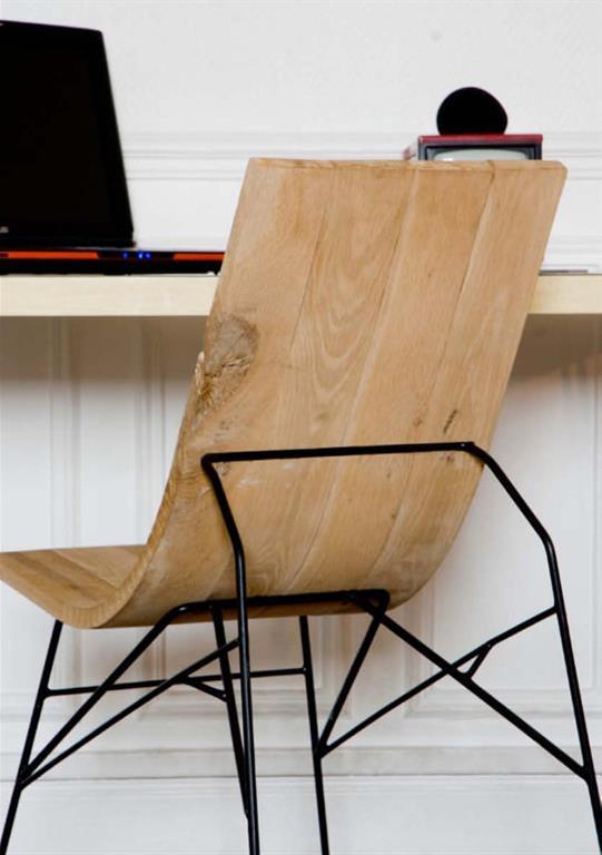 chaise bureau design bois table de lit a roulettes. Black Bedroom Furniture Sets. Home Design Ideas
