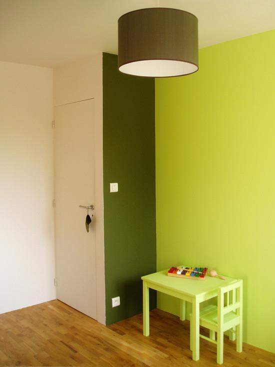 Chambre marron et vert pomme for Chambre verte