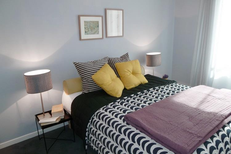 Good chambre moderne bleu canard chambre design bleu adulte chambre pastel doux bleu adulte maisons with couleur de chambre moderne