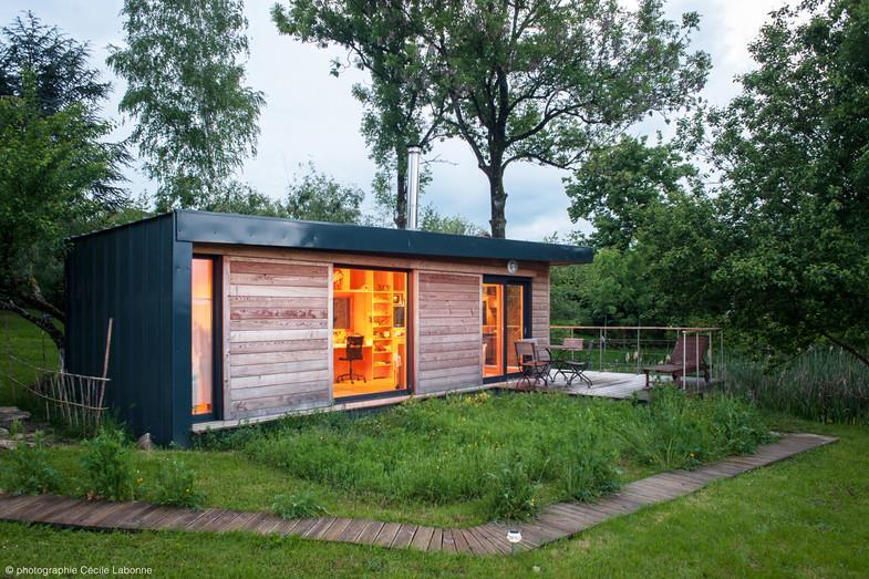 Maison moderne bois acier avec des id es int ressantes pour la conception de la - Maisons modernes en bois ...