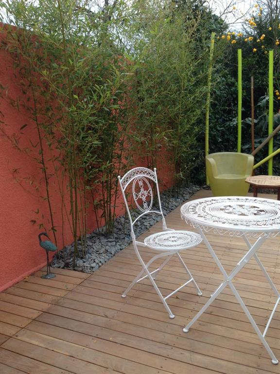 Jardins et terrasses for Decoration terrasse avec bambou