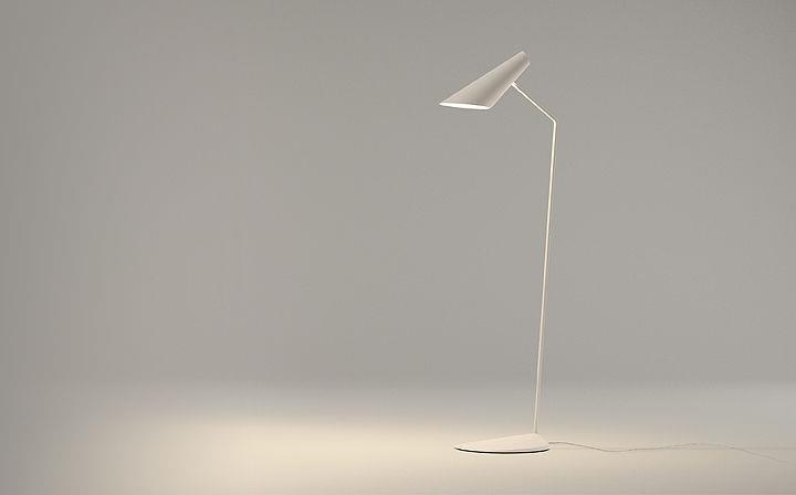 Lampe sur pied design original par studio lievore altherr molina for Lampe sur pied moderne