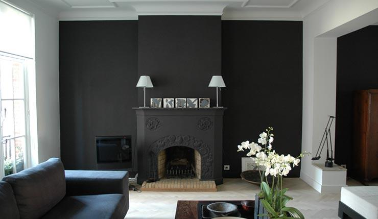 decoration mur gris fonce. Black Bedroom Furniture Sets. Home Design Ideas