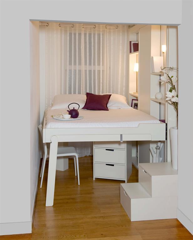 18 chambres lit estrade chambre studio lit escamotable pour studio - Lit Estrade Chambre Studio