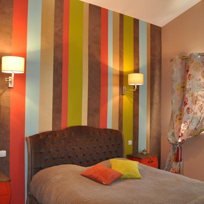 Deco chambre tapisserie for Tapisserie chambre adulte