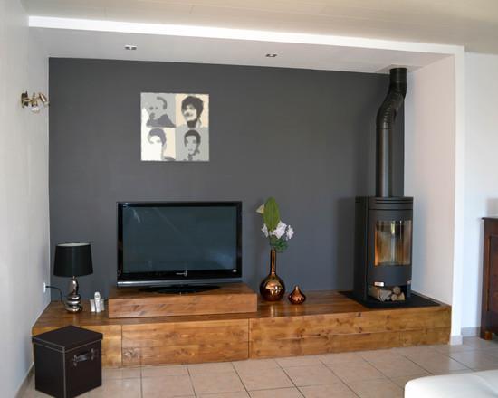 salon blanc et bois 17 photos dans la galerie dimage salon gris et - Salon Gris Et Bois