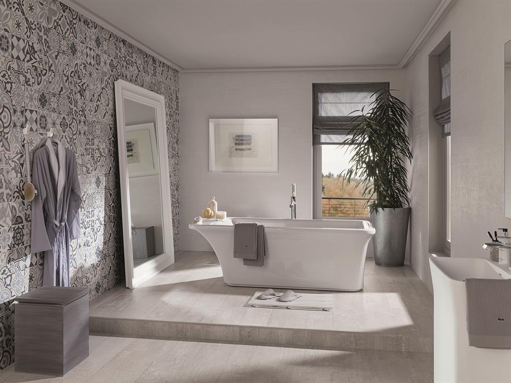 Maison moderne avecmezzanine - Parquet salle de bain gris ...