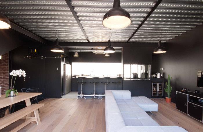 Pi ce vivre dans un esprit loft atelier sof architectes for Architecture a vivre