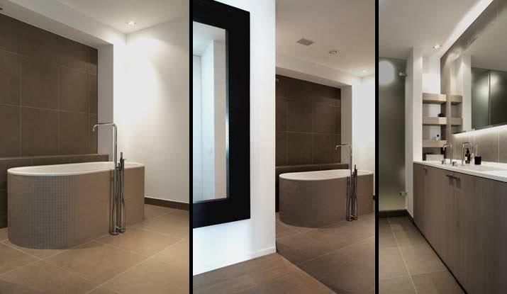 image salle de bain contemporaine aux tons taupe delacroix friant - Salle De Bain Taupe