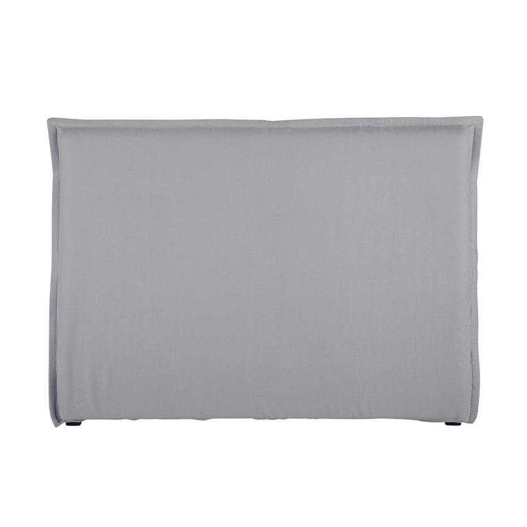 Housse de t te de lit 160 en lin lav bleu nuage morphee for Housse pour tete de lit