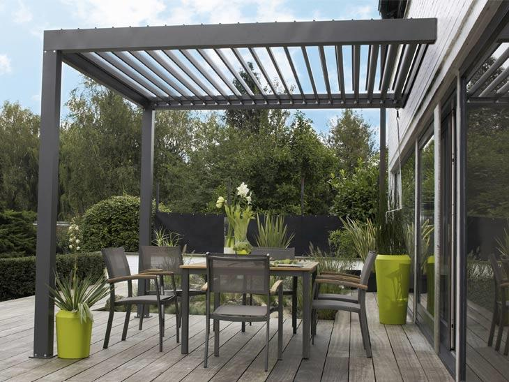 terrasse couverte lames orientables