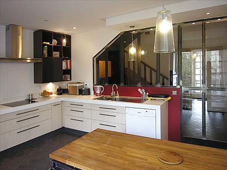 S paration physique et ouverture visuelle par les baies vitr es - Separation vitree cuisine ...