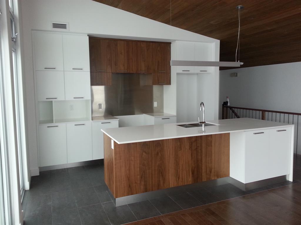 Cuisine design blanc et bois: les matieres tendance pour la ...