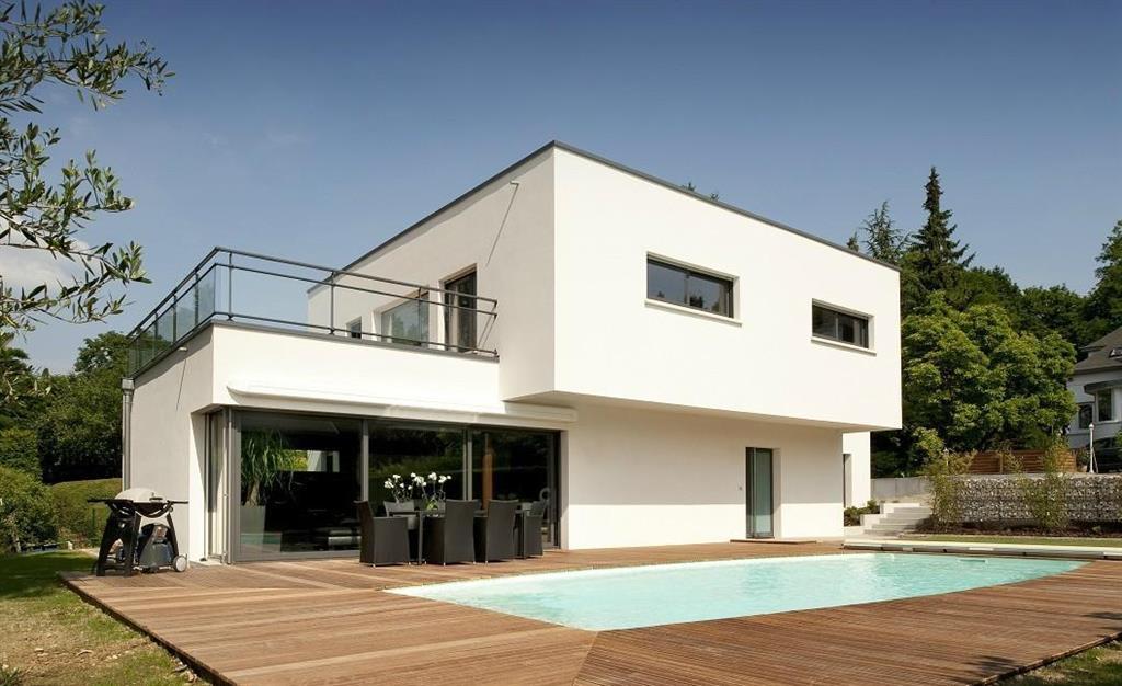 Maison Moderne Exterieure  Maison contemporaine blanche