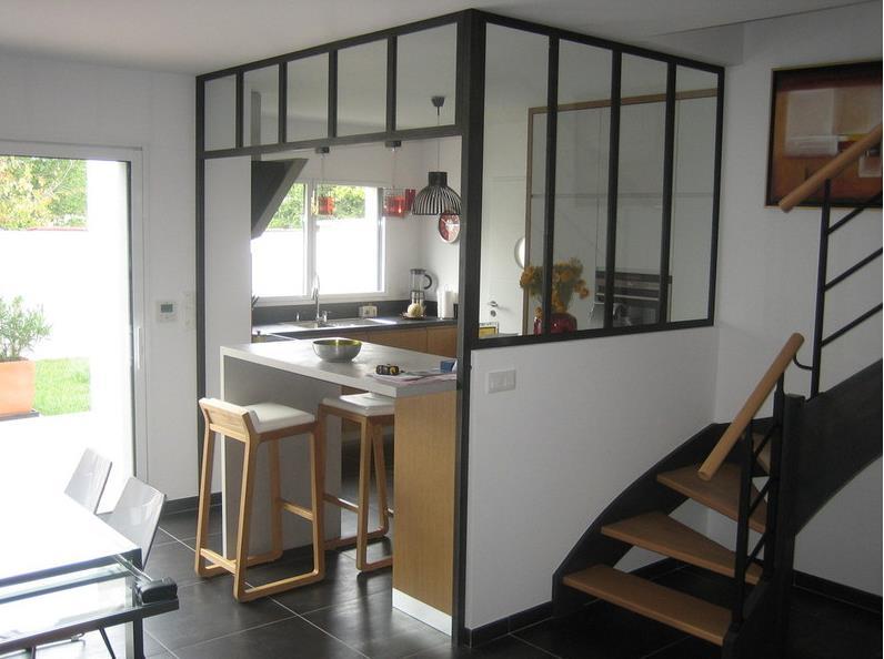 Cuisine dessin cuisine 5m2 ouverte sur salon and cuisine - Cuisine ouverte sur salon petite surface ...