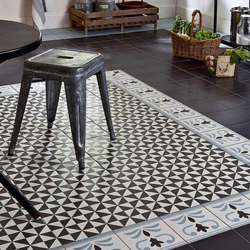 Alternative aux carreaux de ciment des solutions tout Lino imitation carrelage ciment