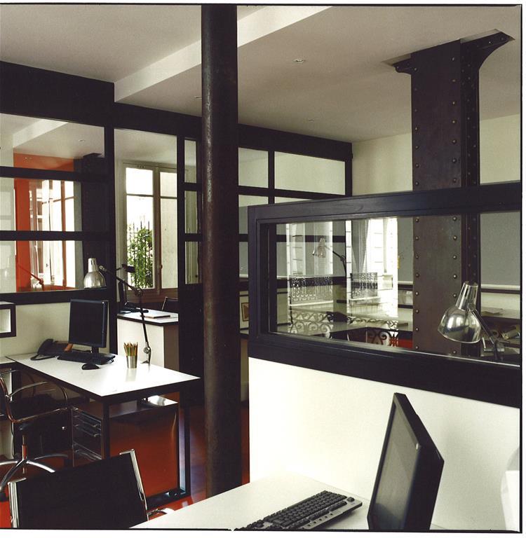 Bureau ouvert gr ce aux verri re style atelier d 39 artiste for Bureau verriere