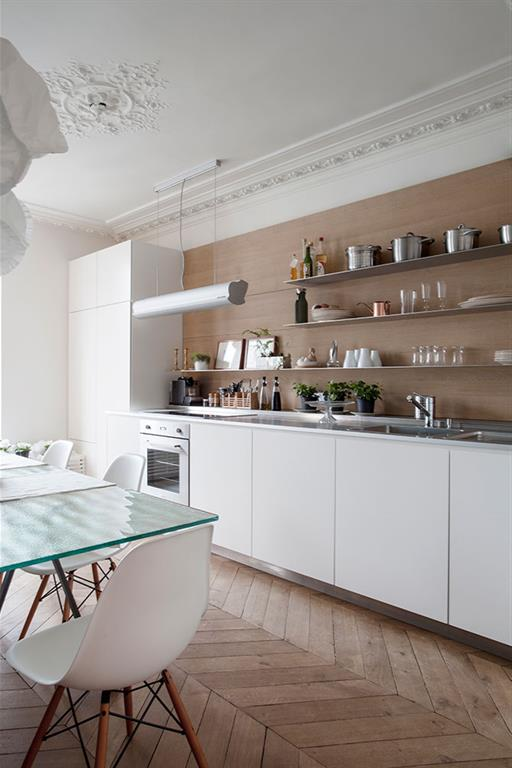 Quels mat riaux design pour la cr dence - Appartement haussmannien paris ...