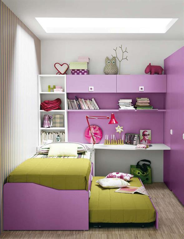 Chambre fille rose vert for Lambris pvc vert anis
