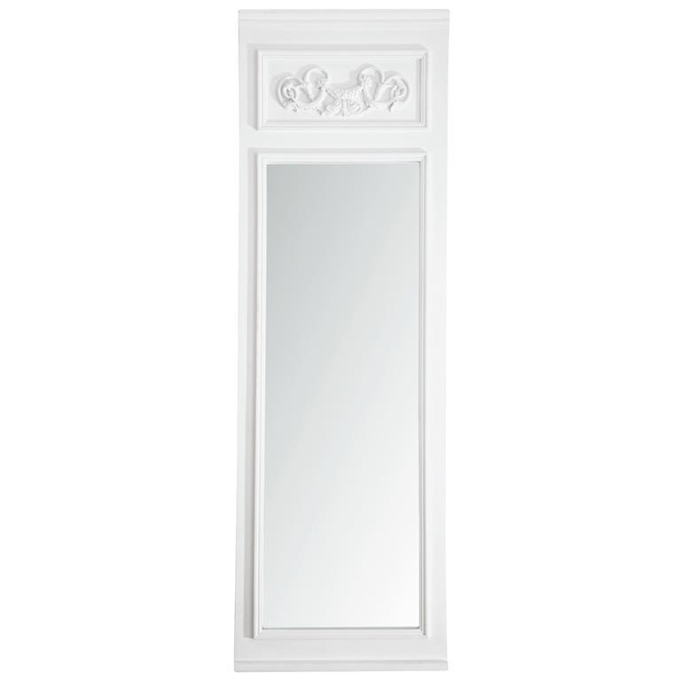 Miroir bois blanc for Miroir trumeau
