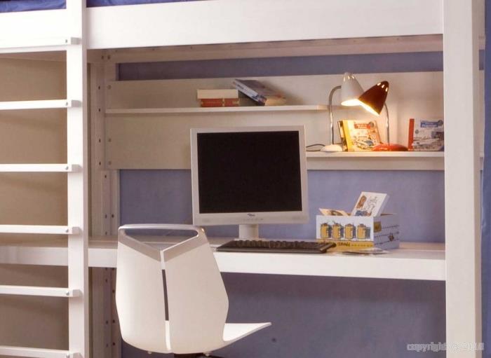 Coin bureau sous le lit mezzanine etikolo photo n 31 - Bureau enfant moderne ...