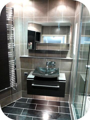salle de bain moderne noir salle de bain beige et noir decoration bains carrelage - Salle De Bain Noir Et Taupe