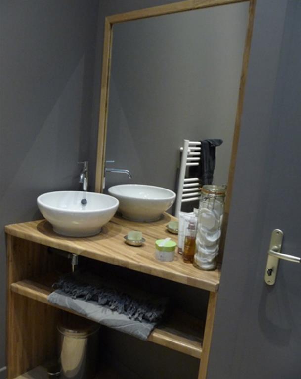 salle de bain grise et bois ? obasinc.com - Salle De Bain Gris Bois