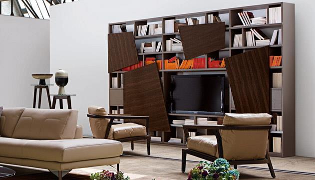 Design exclusifs pour roche bobois - Roche bobois bibliotheque ...