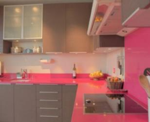 Cuisine Girly Rose Et Grise L P A Interieure Photo N 21