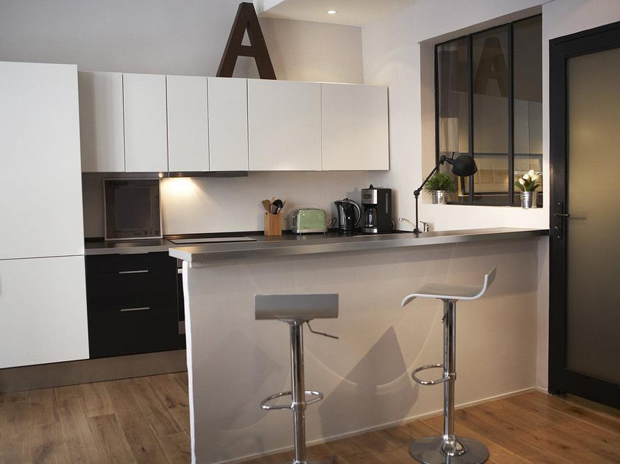 Cuisine Gris Et Bois Ikea : Petite cuisine  16 cuisines de petite surface pour faire le plein d