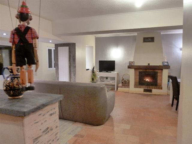 Ouverture s jour sur couloir for Salon avec cheminee