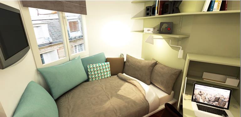 une banquette a t cr e sous la fen tre solene utard. Black Bedroom Furniture Sets. Home Design Ideas