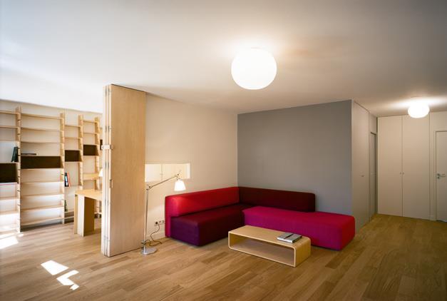 Image Espace Salon et bureau avec cloison amovible