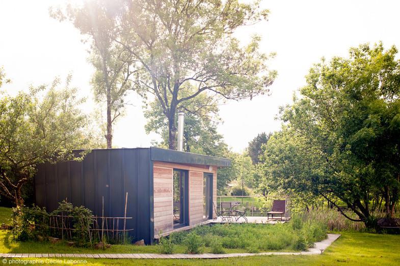 image maison en bois et acier de plain pied atelier zou - Maison Moderne En Acier De Plain Pied