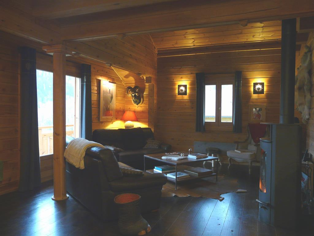 Chalet en haute savoie for Photo salon cosy