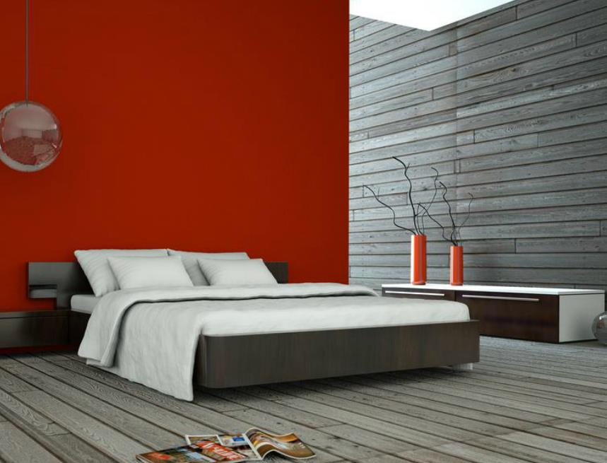 Stunning Chambre Mur Rouge Et Gris Ideas - Design Trends 2017 ...