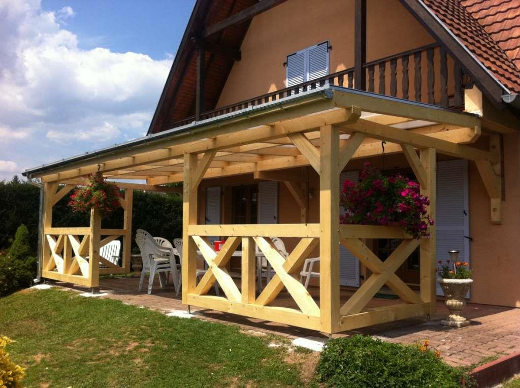 terrasse bois avec pergola. Black Bedroom Furniture Sets. Home Design Ideas