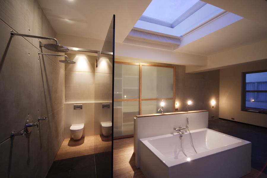 chambre design avec salle de bain