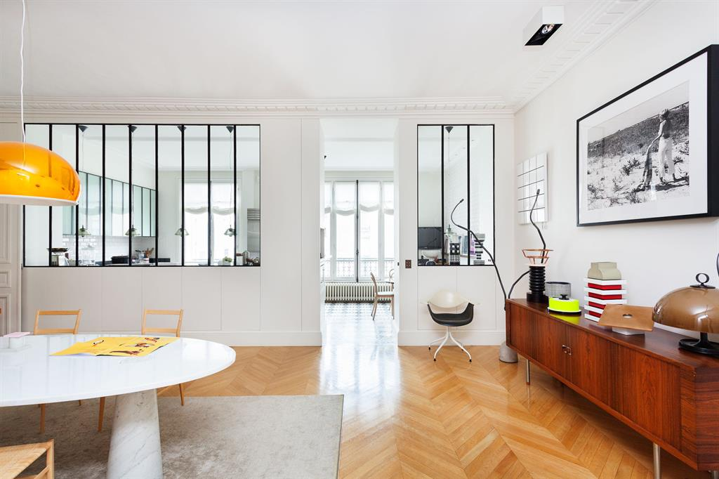 R novation appartement haussmannien tre cr atif sans for Interieur appartement