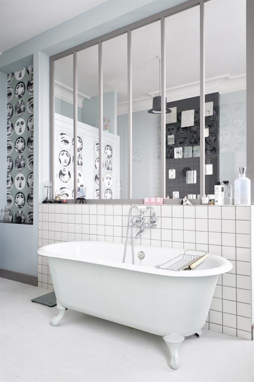 Comment se faire une salle de bain r tro moderne - Baignoire ilot sur pied ...