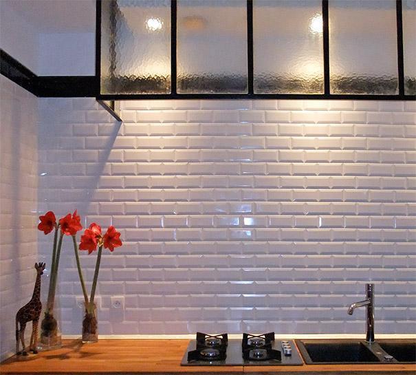 un carrelage mtro dans une cuisine - Carreau Blanc Pour Cuisine