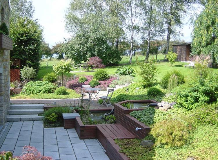 Amenagement d un jardin en pente