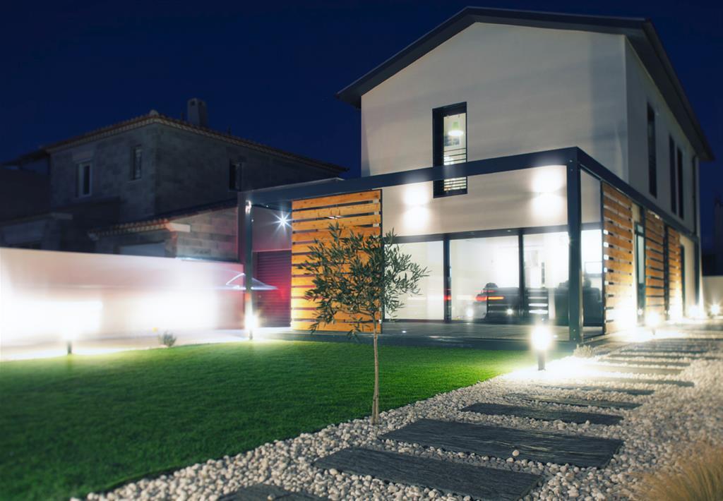 all e en gravier et pierres de schiste lhenry architecture. Black Bedroom Furniture Sets. Home Design Ideas